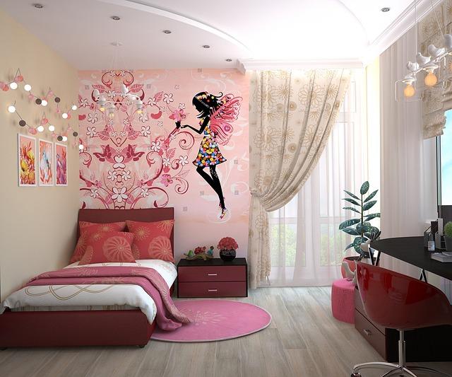 עיצוב חדר לבנות